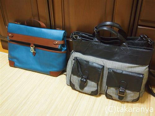 フライングホースのバッグと大きさ比較