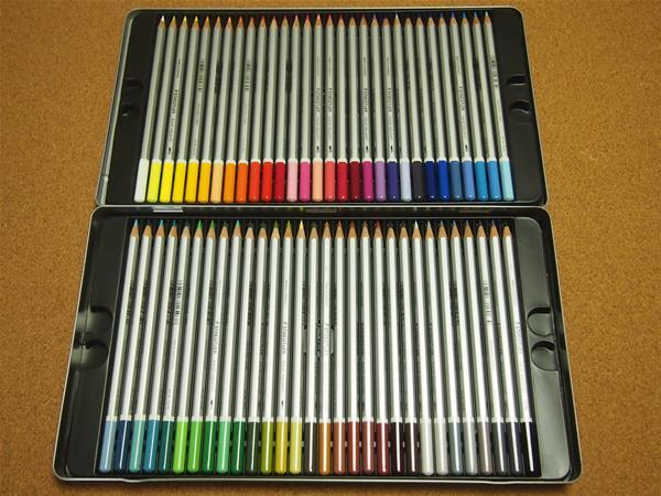 ステッドラーカラトアクェレル水彩色鉛筆60色
