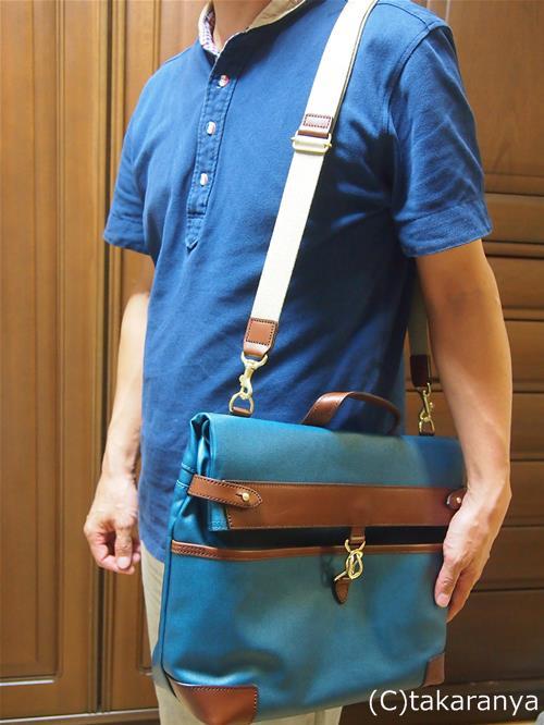 新しい鞄が届いてうきうきの夫